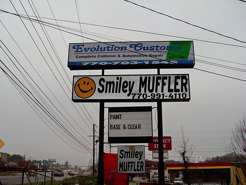 Smiley Muffler, 7632 Hwy 85, inside Evolution Customs, Riverdale, GA, 30274, USA