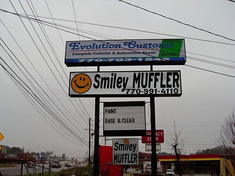 Smiley Muffler, 7632 Hwy 85, inside Evolution Customs, Riverdale, GA, 30274, USA